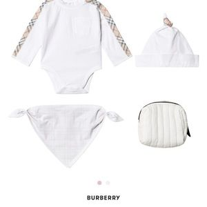 Burberry 3 piece baby set in a bag